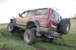 Тянем-потянем — для рейдов вполне адекватная артикуляция   Toyota Land Cruiser 80