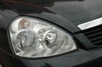 Конструкция фар из трех круглых «светильников» схожа, но их «выражение» передает совершенно разное настроение | Lada Priora & Lifan Breez