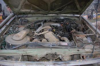 Toyota LC72 «Перец» | Имплантация 1KZ с АКП потребовала смещения всего силового агрегата на 100 мм вперед. Кстати, база автомобиля после установки уазовских мостов увеличилась на 150 мм