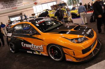 SEMA Show | Subaru Impreza WRX STi Unlimited Class Time Attack от Crawford Performance с 500-сильным мотором — пожалуй, самая мощная Impreza в экспозиции фирмы на выставке