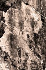 Некоторые группы наскальных рисунков в окрестностях горы Ехэ-Ердо по композиционному разнообразию значительно опережают писаницы в бухте Ая. Среди них выделяется беломраморная скала Саган-Заба на берегу Байкала | Тажеранские степи