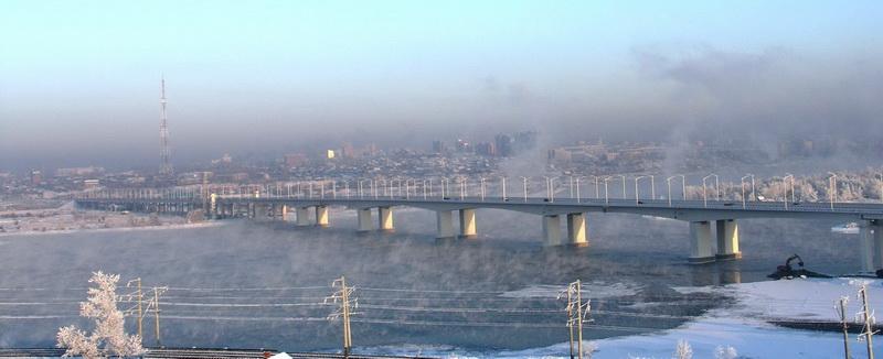 Академический мост в Иркутске