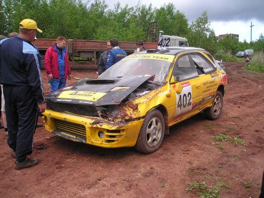 Subaru Cross Sport Евгения Корешкова | Последствия этапа в Братске. После них, руководствуясь полученным печальным опытом, аккумулятор перекочевал в салон, и начались раздумья над местоположением радиатора