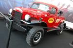 Dodge Power Wagon — тот пример, когда изначально армейский автомобиль (знаменитый Dodge «три четверти») успешно адаптировался в гражданской жизни. И, по сути, стал первым в США полноприводным пикапом, хотя выпускался еще в нескольких спецверсиях | SEMA Show: ретро