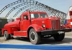 Пожарный МАЗ-200 на удлиненной базе изначально был лестницей, но для сельской местности переделан в автоцистерну | Пожарные машины