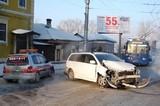 Пять машин в ДТП в центре Иркутска