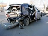 Попытка разворота привела к столкновению трех машин
