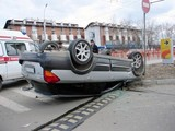 «Волга» опрокинула Subaru