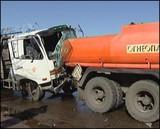 Водитель автокрана протаранил пять автомобилей в Иркутске