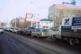 В районе объезда ул. Байкальская в Иркутске образуются большие пробки