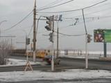 В Иркутске устанавливают светофор у левобережного въезда на плотину ГЭС