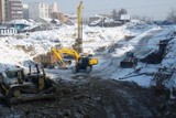 Строители приступили к возведению путепровода через улицу Байкальская