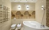 Угловые ванны в дизайне - фото в интерьере