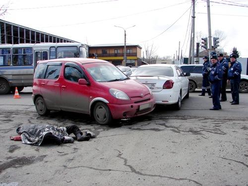 ДТП с пешеходом в Иркутске