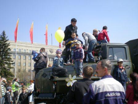 День Победы в Иркутске