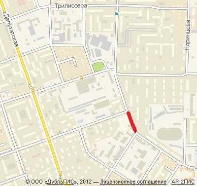 Улица Красноярская в Иркутске