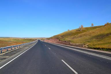 Трасса М-53 в Заларинском районе Иркутской области