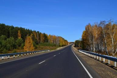 Трасса М-53 в Черемховском районе Иркутской области