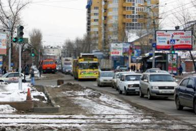 Улица Советская в Иркутске