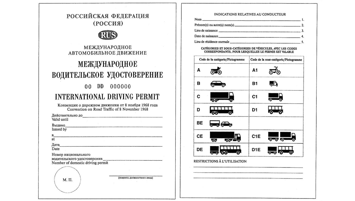 гибдд международные автомобильные права: